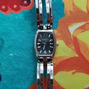 Vintage Fossil F2 Stainless Steel Watch